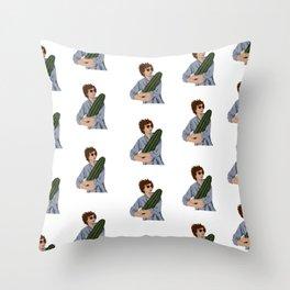 Michael Cera & the Magical Cactus Throw Pillow