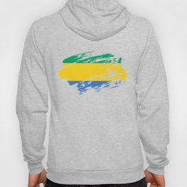 Gabon Flag Shirt Hoody