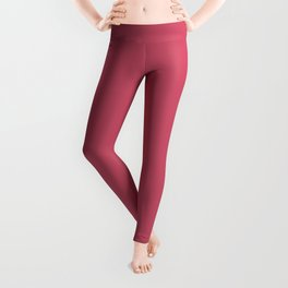 Hot Pink - Pairs To Sherwin Williams 2020 Trending Color Eros Pink SW6860 Solid Color Leggings