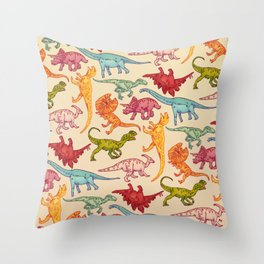 DINOS PATTERN Throw Pillow
