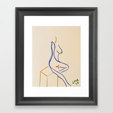 Color Study of a Nude Leaning Against a Box Framed Art Print