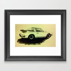 Porsche 911 SC Turbo Framed Art Print
