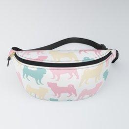 Pastel Pugs Pattern Fanny Pack