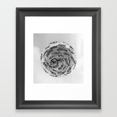 there is something in grey Framed Art Print