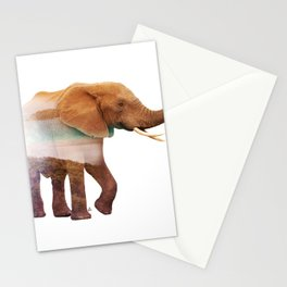 Wild animals : Elephant Stationery Cards