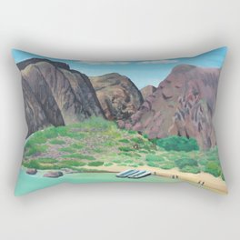 Grand Canyon Rafting Rectangular Pillow