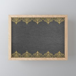 Back later gold vintage border Framed Mini Art Print