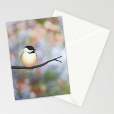 black capped chickadee on a branch Stationery Cards