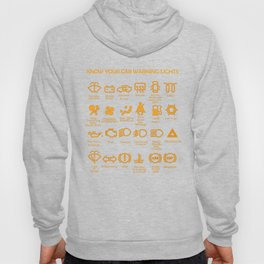 know your car warning lights, very funny, original car dashboard Hoody