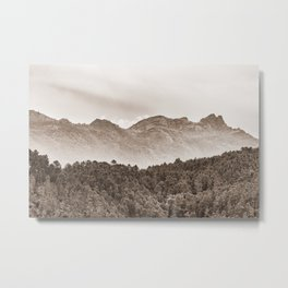 The mountain beyond the forest Metal Print