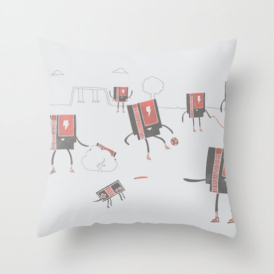 Go Play Outside Throw Pillow