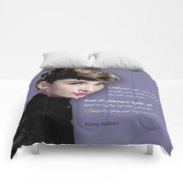 Movie star art - Audrey Hepburn Comforters