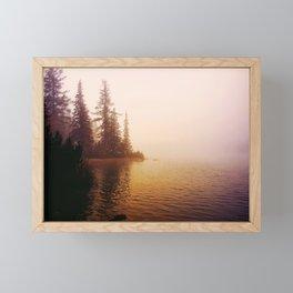 Sunset at Lake Framed Mini Art Print