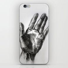 hand drawing hand iPhone & iPod Skin
