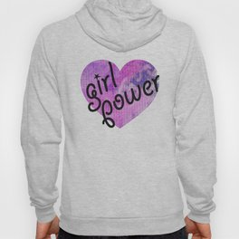 girl power, watercolor heart Hoody