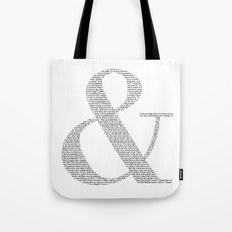 & - Cut out Tote Bag