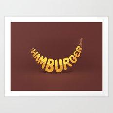 Healthy burger Art Print
