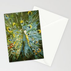 Green Peacock  Stationery Cards