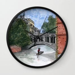 The Bridge of Sighs Wall Clock