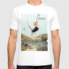 Earth White MEDIUM Mens Fitted Tee