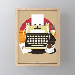 Writer Framed Mini Art Print