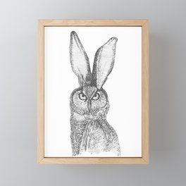 Combinations #1 - Owl / Rabbit Framed Mini Art Print
