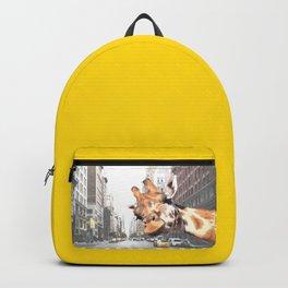 Selfie Giraffe in New York Backpack
