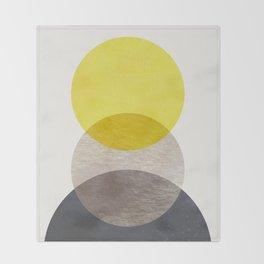 SUN MOON EARTH Throw Blanket