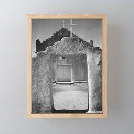 Ansel Adams - Taos Pueblo Church Framed Mini Art Print