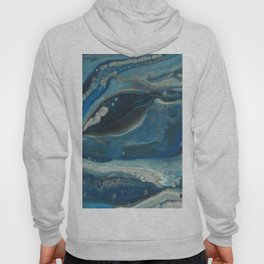 Water Dragon, Abstract Fluid Acrylic Painting Hoody