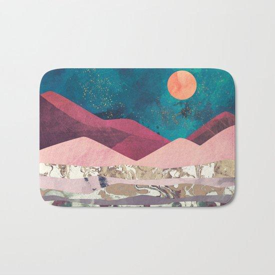 Magenta Mountain Bath Mat