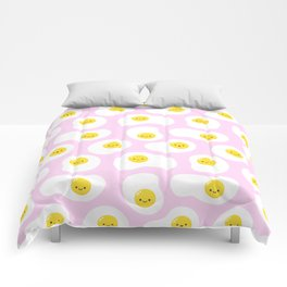 Cute Fried Eggs Pattern Comforters