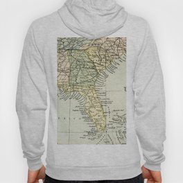 Vintage Map of the South Of The United States Of America Hoody