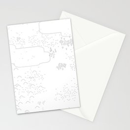 land of 15 towns and a cemetary Stationery Cards