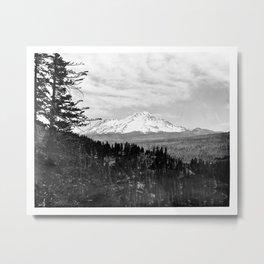 Mount Shasta, and neighboring mountain Shastina, Siskiyou County, ca.1900-1940 Metal Print