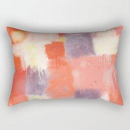 City Sunset Geometric Abstract Painting Rectangular Pillow