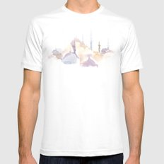 Watercolor landscape illustration_Istanbul - Saint Sophia White Mens Fitted Tee MEDIUM