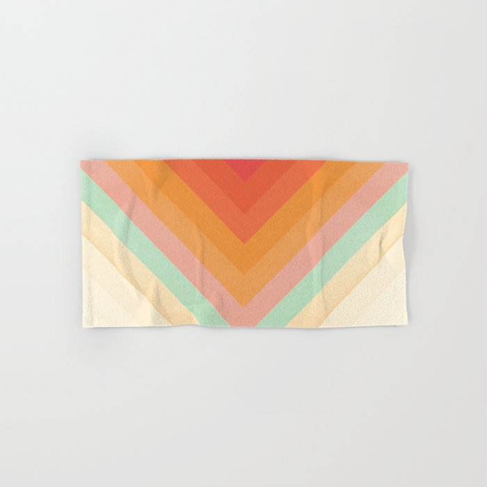 Rainbow Chevrons Hand & Bath Towel