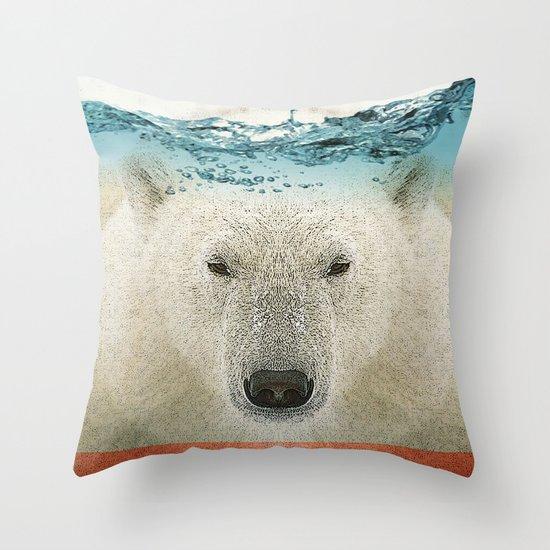 bear line Throw Pillow