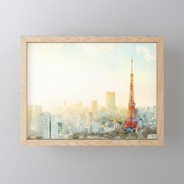Tokyo tower, landmark of Japan Framed Mini Art Print