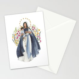 Our Lady Mary Mother of the Rosary Stationery Cards