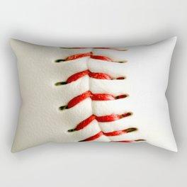 Base Ball Close Up Rectangular Pillow