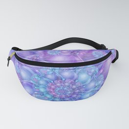 Cerulean Blue & Violet Spiral Fanny Pack