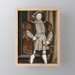 Portrait of Henry VIII - After Hans Holbien the Younger Framed Mini Art Print