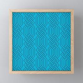 Ornate Aqua Moroccan Geometric Pattern Framed Mini Art Print