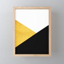 Gold & Black Geometry Framed Mini Art Print