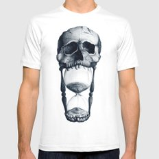 Demise of Time White MEDIUM Mens Fitted Tee
