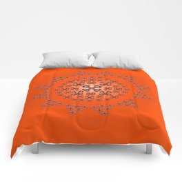 Holloween Crossbones Medallion Comforters