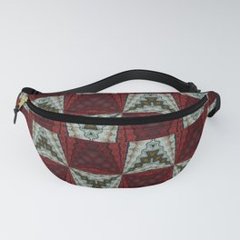 Tribal Pattern Red and White Fanny Pack