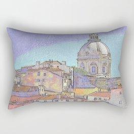 Santa Ingrácia church and Alfama rooftops, Lisbon Rectangular Pillow